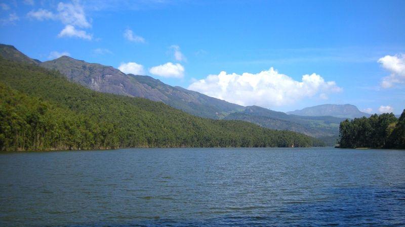 Lake Mountain Landscape Tree Blue Cloud - Sky Water Munnar Kerala Kerala, India