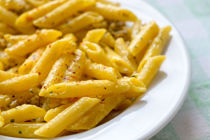 Pasta penne ready to eat Food And Drink Ready To Eat Carbohydrate - Food Type Carbohydrates Close-up Day Food Food And Drink Foodphotography Freshness Indoors  No People Pasta Pasta Time Penne Penne Pasta Plate Plate Of Food Ready-to-eat Tasty Yellow