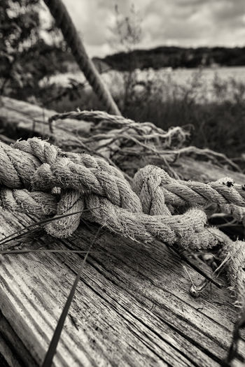 Taking Photos Monochrome Blackandwhite Junk Skräp Rope Rep FUJIFILM X-T1 Svartvitt Summertime In Sweden