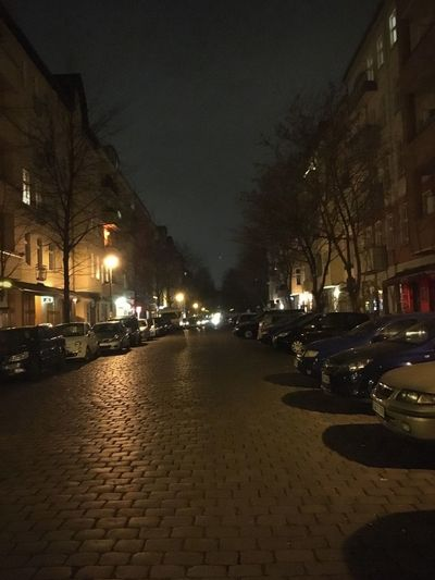 Nach Hause Zentralperspektive Night City Street Architecture Illuminated Building Exterior Built Structure Street Light Cobblestone City Life No People City Street Building The Way Forward