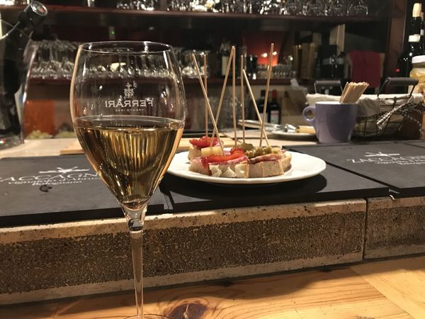 Alcohol Aperitivo  Bicchiere Di Vino Drink Drinking Glass Food Food And Drink Freshness Gourmet Indoors  No People Osteria Plate Restaurant Serving Size Spuntino Table Wine Wineglass