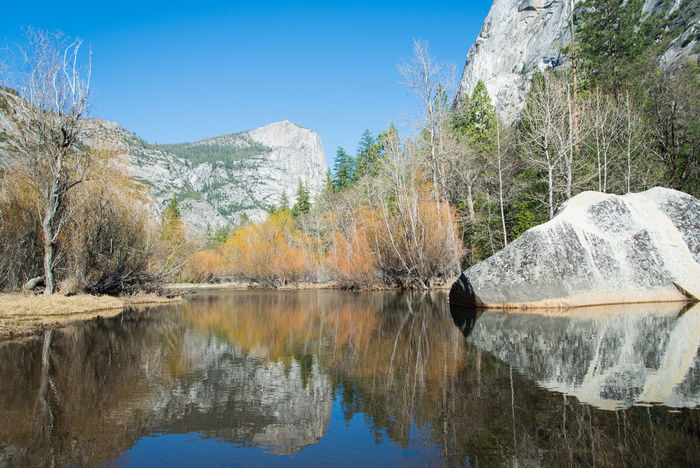 Mirror Lake, Yosemite National Park Beauty In Nature Lake Landscape Mirror Lake Mountain Outdoors Reflection Tranquil Scene Tranquility Water