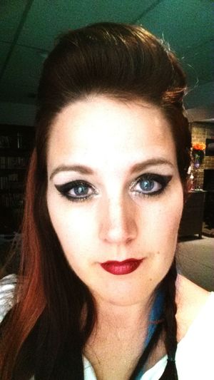 BlueEyes Redlips Dramatic Looks Sassy
