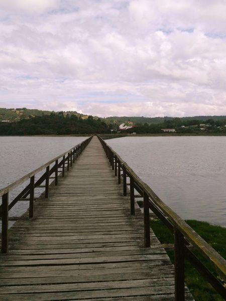 isla aucar Pier Jetty Lake Railing Water Outdoors Cloud - Sky