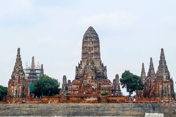 Balance Travel Destinations No People Day Outdoors Sky Architecture Religion Ayutthaya | Thailand Thailand🇹🇭 Historical Monuments Historical Building Buddist Temple Brick Wall Background Balancing Art Temple In Thailand Prang Architecture Thai Art Temple Built Structure Chaophraya River Ayutthaya Historical Park, Bangkok Thailand Trip Thai Culture Travel Postcode Postcards