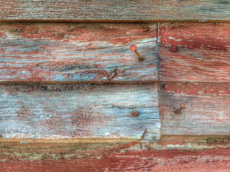 Iphonography Minimalist Texture Pattern Close Up Wood Wood Siding Rusty Nails Old Paint Paint Wall Wood Wall Architecture IPhone