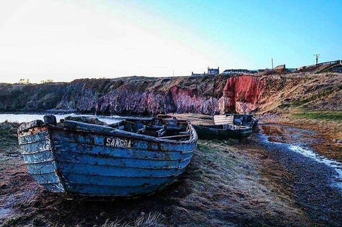 Beautiful Wreck Rustic boats and lime kilns at Boddin Point. Like the colours and textures of the boats and coastline. Will have to return for sunrise or a dreamy star shot. ☺ Boatwreck Boat Vintage Old Rustic Beautiful Charm Coastline Angus Boddinpoint Ferryden Lunanbay Evening Sunset Blue Texture Seascape POTD Ruin Photooftheday Instascotland Sea Beach Erosion VisitScotland brilliantmoments jessopsmoment