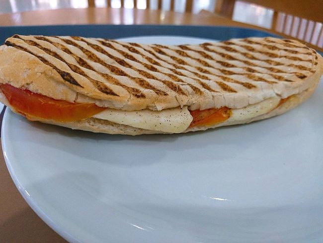 For the last time this Holiday a Bocadillo con Haloumi and Tomato Food Photography Foodpictures Foodspotting