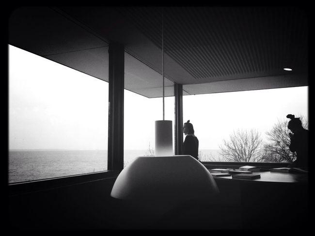 Sea Monochrome Enjoying The View