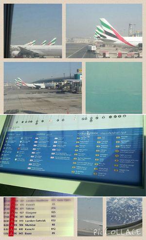 Flyemirates ✈ Takeoff ✈ Dubaiairport The View From My Window ???????☁?