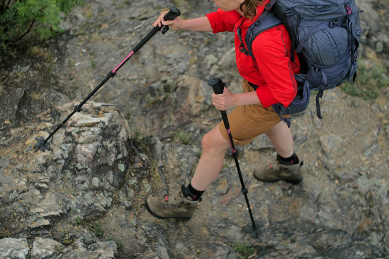 Low Section Of Hiker On Rocky Mountain