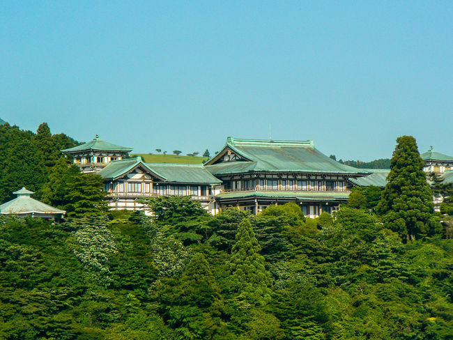 Architecture Building Exterior Clear Sky Green Color Hakone Japan Japan Lake Ashi Outdoors Roof Tranquility Tree Ultimate Japan