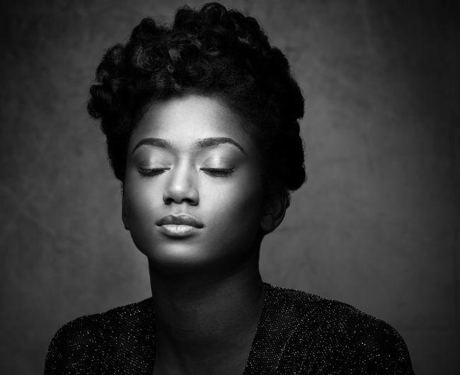 Janique Album Cover Beautiful Woman Blackandwhite Photography Headshot Popmusic R&b Soulmusic Studiophotography Young Adult Young Women