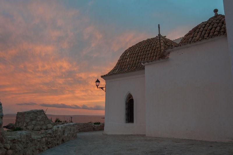 Iglesia de Santo Eivissa World Heritage Ibiza Dalt Vila Sunset Sand Dune Summer Built Structure