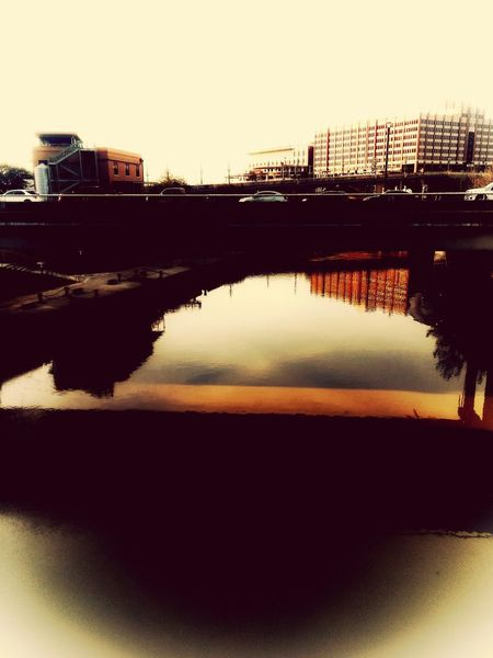 01/2018 Bridge One Mans Trash Is Another Mans Treasure Reflection Silhouette No People Built Structure Architecture Sky Outdoors Day Water