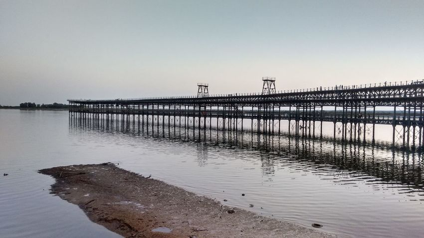 Muelle de Riotinto Beauty In Nature Clear Sky Day Historical Building Huelva Huelvalaluz Motorola Photography Muelle Del Tinto Nature No People Outdoors Pier Riotinto River Scenics Tranquil Scene Tranquility Water