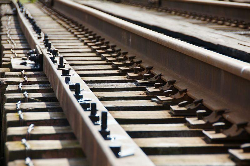 Close-up of railway