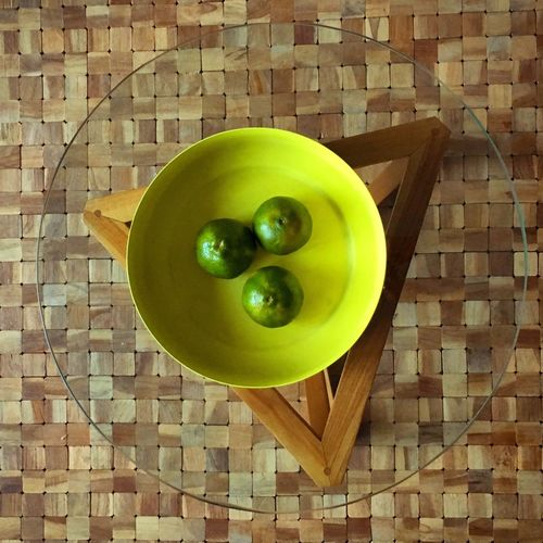 Food And Drink Green Color Food Freshness Vibrant Color Lime Table Circle Circular Wood