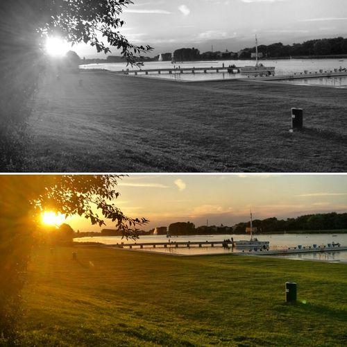 Normal Blackandwhite Leicacamera Sky Evening Sun Lake Relaxing Photography HuaweiP9 Water Photo