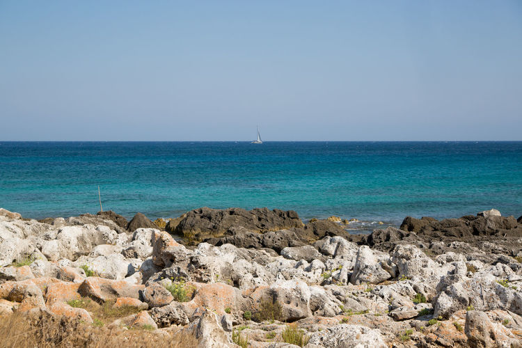 Capo D'Otranto IonioSea Mare Porto Badisco Puglia Adriatic Sea Baia Delle Orte Day Faro Faro Palascia Leuca Nature Orte Otranto Outdoors Palascia Salento Sea Sky
