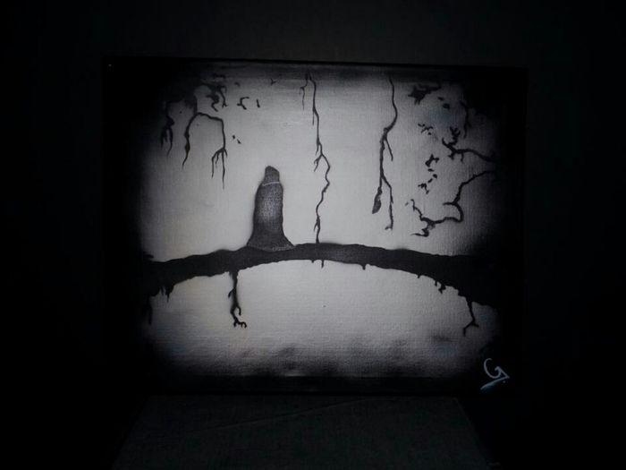 Another canvas I have done....also for sale!!! Streetart Urban Art Painting Dark UrbanART Darkart Graffiti