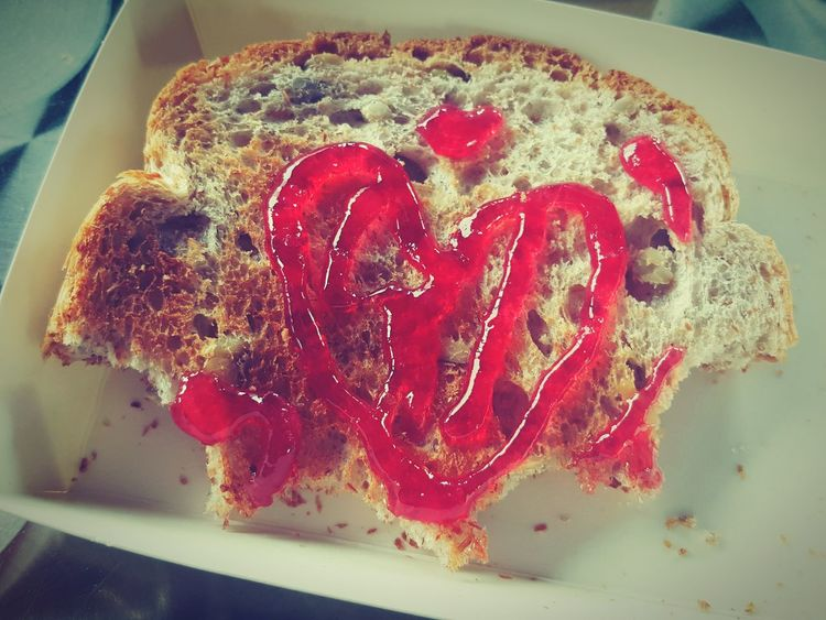 Hi~ Food Food And Drink Sweet Food Homemade Red Heart Shape Close-up Indoors  Gourmet Indulgence No People Freshness Temptation Domestic Life Food State Ready-to-eat Day