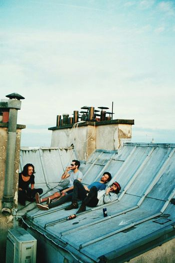 Rooftop Chilling Friends Paris