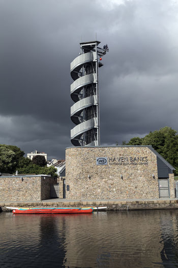 Canoe Haven Banks Exeter Architecture Building Exterior Built Structure Cloud - Sky Day Lighthouse Nature No People Outdoors Pontoon Sky Storm Cloud The Quay Exeter Tree Water