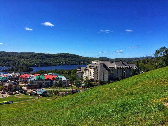 Mont Tremblant, Qc Built Structure Building Exterior Sky Nature Green Color