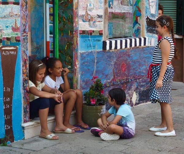 Childhood Child Girls Females Women Full Length Sitting