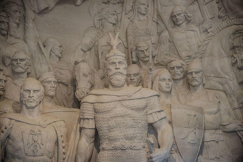 Albania Hall Of Fame Kruje Kruje, Albania Muesum National Monument Skanderbeg Statue Warlord