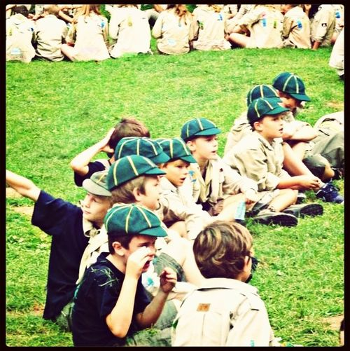 Children Scout Green