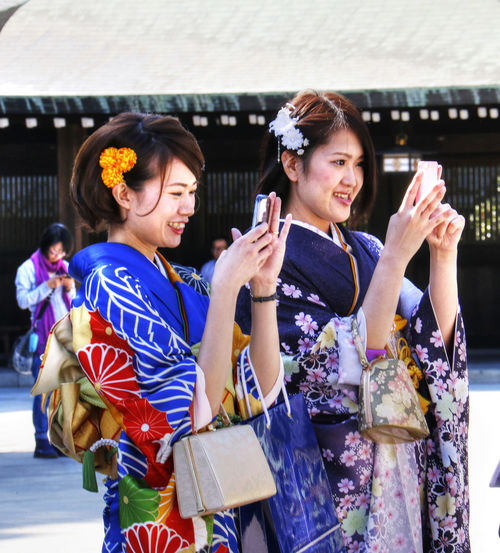 Adult Girl Japan Kimono Meiji Shrine Outdoors People Pretty Girls Tokyo Traditional Costume