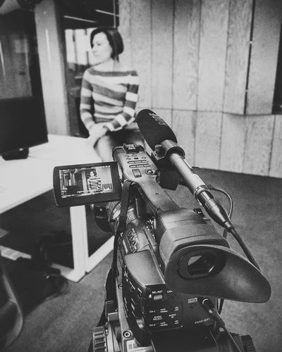 At work Camera Cinematography Video Videoshoot Onstage Work Working Shooting Shootermag Gear Sony Blackandwhite Black & White Black&white Mobilephotography Mobile Photography IPhoneography Street Photography Office