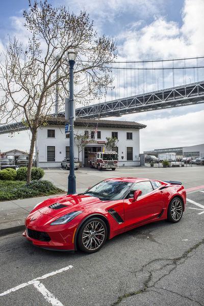 Corvette Stingray on the Embarcadero Automobile California Cars City Corvette CorvetteStingray Embarcadero Embarcadero Waterfront Red San Francisco Transportation