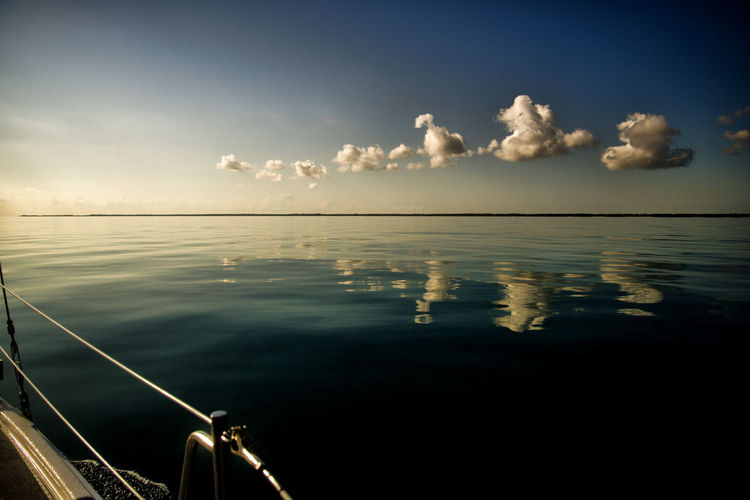 CLOUDS REFLECTED IN ABACAO SEA