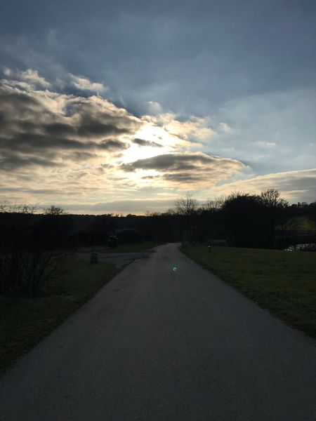 The Way Forward Road Sky Sunset Cloud - Sky Tree Diminishing Perspective Nature Scenics Tranquil Scene Tranquility No People Outdoors Landscape Beauty In Nature Transportation Grass Day EyEmNewHere Eyeem Learning Eye4photography  Nofilternoedit Orginal Photograph France