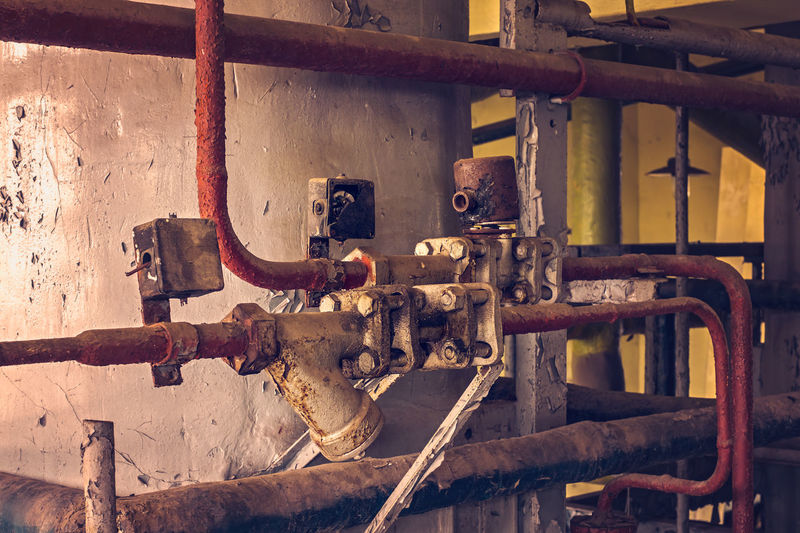 Rusty Water Pipes In Factory