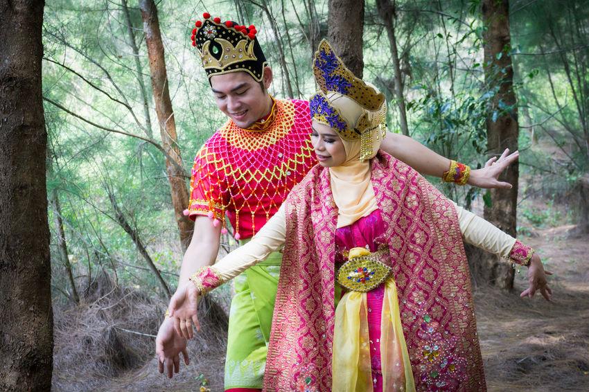 Specific to the villages of Kelantan, where the tradition originated, Mak Yong is performed mainly as entertainment or ritual purposes by couple of dancers. Childhood Day Forest Front View Mak Yong Nature Outdoors People Tree Tree Trunk Young Adult