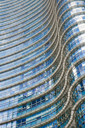 Alloy Architecture Backgrounds Blue Building Building Exterior Built Structure Ceiling City Curve Day Design Full Frame Glass - Material Industry Low Angle View Modern No People Office Office Building Exterior Outdoors Pattern Skyscraper Steel