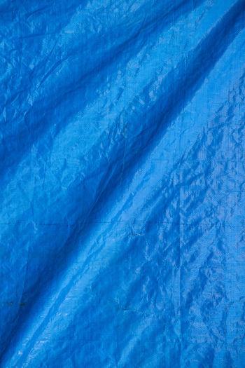 Full Frame Shot Of Blue Tarpaulin