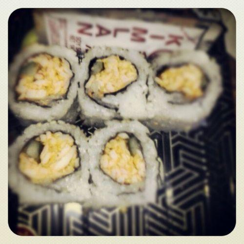 Spicycaliforniarolls Sushi Yummy Happycamper happytummyinyourfacefoodporn