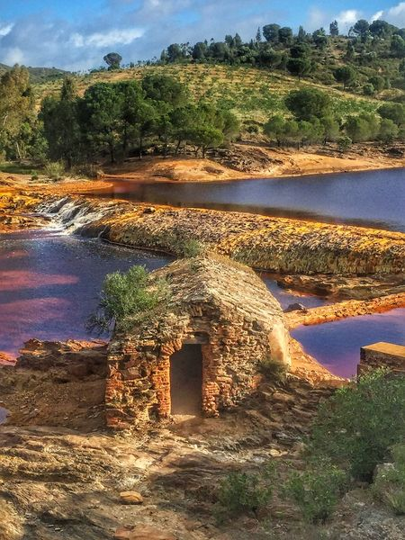 Ancient watermill on the fascinating acid waters of the Rio Tinto (Red River in English, for obvious reasons) Riotinto Huelva IPS2016Composition IPhoneography Iphone6 River Watermill Showcase: January IPS2016Landscape