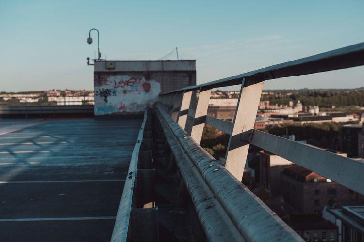 city at sunset (pt 2) Urban Skyline Street Photography Sunset Summer Evening Light Evening Industrial Golden Golden Hour Vintage Bridge - Man Made Structure Sky Girder Street Art Spray Paint Graffiti Skyscraper Cityscape