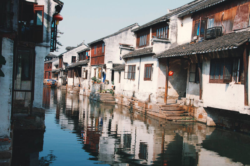 Watertown, Shanghai Check This Out Shanghai Tourist Water Reflections Architecture Building Exterior Built Structure Chinese Day No People Outdoors Reflection Rural Scene Sky Travel Destinations Urban Water Waterfront Watertown