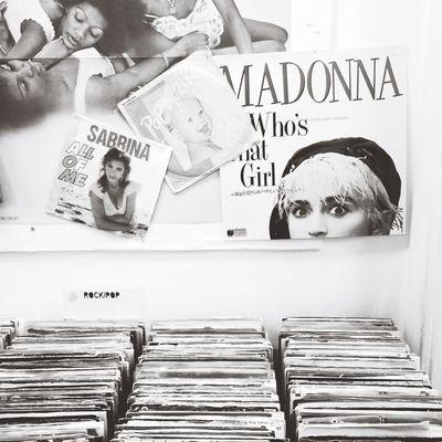 Vinyl store in CPH Black & White Vintage Vinyl Records