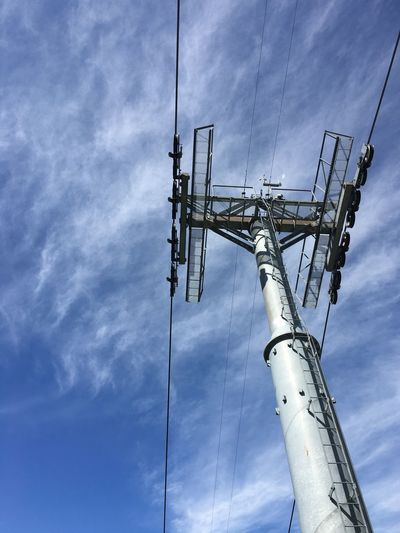 Switzerland Sky Low Angle View Cable Power Supply Electricity  Power Line  Connection Cloud - Sky Fuel And Power Generation No People Outdoors Day Electricity Pylon Technology