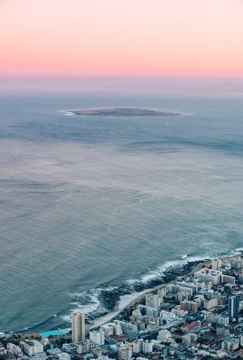 Robben Island Sunrise | Cape Town, South Africa. Sea Robbenisland Cape Town Outdoors Water City Sky South Africa Lions Head Sunrise Pink Sky Africa