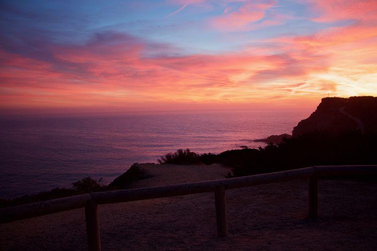 Tan Sky Sunset