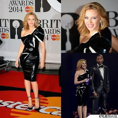 KylieMinogue Pharell BRITs2014